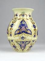 0Y433 Régi ritka vajszínű Zsolnay porcelán váza