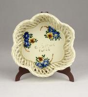 0Y510 Kisméretű virágos áttört porcelán kosár