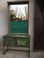 Különleges, egyedi konzolasztal hatalmas tükörrel