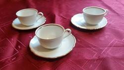 Antik Bavaria porcelán kávéskészlet  aranyozott széllel eladó!