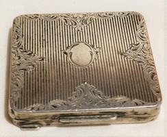 Antik ezüst púderes szelence,jelzett