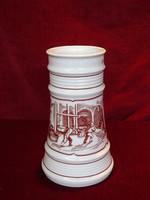 Alföldi porcelán sörös korsó, sernevelőház a XVII. századból felirattal.