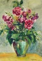0Y543 Szöllősy H. Eta : Virágcsendélet 1984
