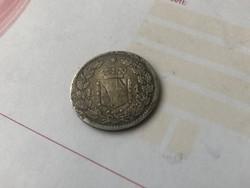 1886 ezüst olasz 1 líra 5 gramm 0,835