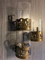 Szecessziós poharak fém foglalattal