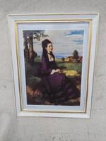 Holloházi falikép. Sźinyei M. Pál. Lila ruhás hölgy. Nagy.