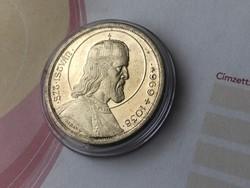 Szt István ezüst 5 pengő,gyönyörű karcmentes darab kapszulában