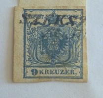 Regi  Belyeg.   1850.  9 Kreuzer
