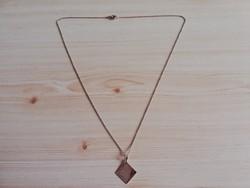 Hosszú 14K antik arany nyaklánc szép medállal! 53 cm hosszú