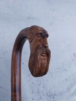 Szt. Pált ábrázoló antik sétábot, sétapálca.