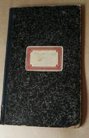Antik betűrendes napló.20x34 cm.Első oldalon halvány jegyzet.