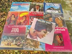 10 db.-os népdal, cigány-zene hanglemez-csomag (LP) cigányzene - Kovács Apollónia