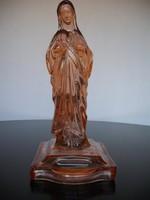 Gyönyörű antik Szűz Mária üveg szobor, 32 cm