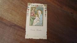 A Szent Család  - art-deco szentkép, 1930.