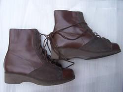 Kézi készítésű női bőrcipő új állapot, 38-as méret