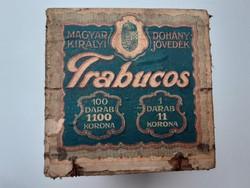 Régi cigarettás fadoboz cigis Trabucos dohányos tároló doboz