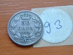 SZERB HORVÁT SZLOVÉN KIRÁLYSÁG 50 PARA 1925 (p) 93.