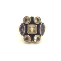 Ezüst gyűrű vegyes kövekkel 925-ös