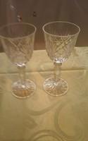 Kristály pohár párban 15.5 cm magas