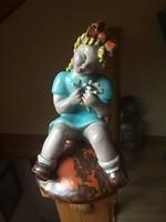 H. Rahmer Mária virágot fogó lánykája