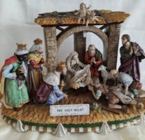 Betlehemi jászol nagy méretű kerámia különlegesség