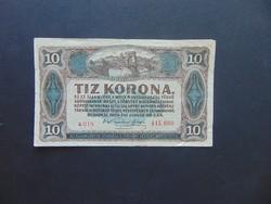 10 korona 1920 Sorszám között pont a 019