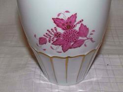 Gyönyörű Herendi lila Aponyi mintás porcelán váza nagy új