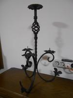 Antik kovácsoltvas asztali gyertyatartó 4 ágú 51*31*31 cm