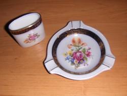 Martinroda porcelán Friedrich Eger & Co cigarettázó szett hamutál kínáló tartó (9/d)