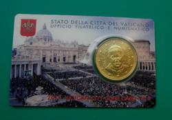 50 cent Vatikán 2015 - hivatalos érmekártya No. 6 (BU)