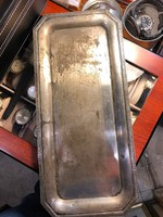 Gyönyörű ezüst tálca, 30 cm-es, korhű állapotban, ajándéknak.