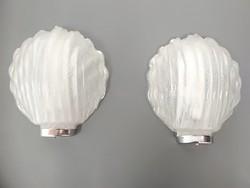 Osztrák, nagy jégüveg kagyló lámpák