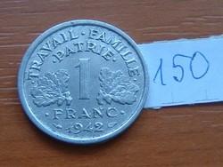 FRANCIA 1 FRANC FRANK 1942 VICHY ALU 150.