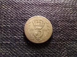 Anglia V. György .925 ezüst 3 Pence 1912 / id 12458/