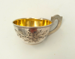 Ezüst belül aranyozott pohár 46 g