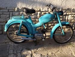 Ritka Veterán Bianchi Legenda 1950 Eredeti  Szép motor kerékpár ritkaság Retró korszak