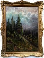 """Vastagh György ( 1834-1922 ) """" Hegyvidéki táj..."""""""