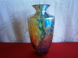 Gyönyörű és nagyon ritka Jugendstil, kézzel festett, képcsarnokos, zsűriszámos üveg váza