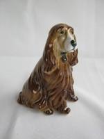 Zsolnay porcelán spániel kutya