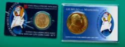 50 cent Vatikán 2016 - hivatalos érmekártya No. 7 (BU) + az Irgalmasság Szentéve emlékéremmel
