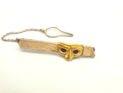 18 karátos arany - ezüst nyakkendőtű