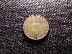 Anglia V. György .925 ezüst 3 Pence 1913 / id 12465/