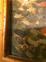 Ács Ferenc olaj vászon