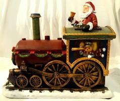 Mikulás karácsonyi vonat, zenélő, világító