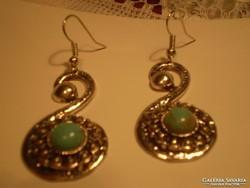 TÜRKENITES Nepáli ezüst lógós fülbevaló