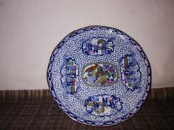 1,-Ft Extrém ritka meseszép antik Kínai jelenetes tányér!Gyűjteményes darab!