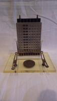 43. számú Állami Építőipari Vállalat iparművész relikvia íróasztali papírvágó tartó