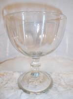 Üveg - nagy - vastag - dekor talpas - üvegpohár - 17 x 13 cm - 05 l.