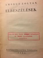 Ambrus Z.: Elbeszélések / 1926 Bibliophil társ. / számozott