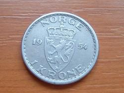 NORVÉGIA 1 KORONA 1954 #